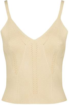 Sandro Knitted Crop Top