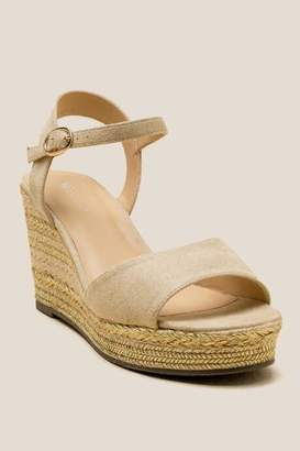 Wanted Rapids Metallic Wedge - Gold