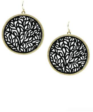 Lets Accessorize Tree-Of-Life Leather Earrings