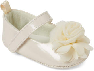Baby Essentials Stepping Stones (Infant Girls) Cream Flower Mary Jane Flats