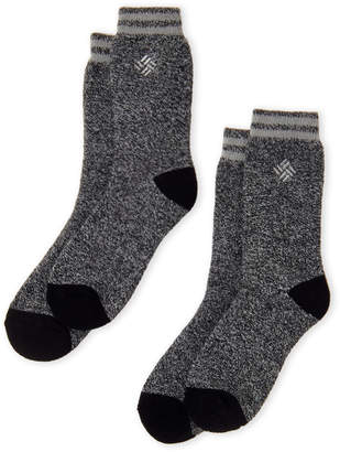 Columbia Two-Pack Black Thermal Socks