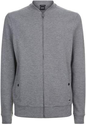 HUGO BOSS Zip Front Knitted Sweater