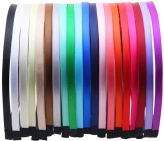 styling/ Candygirl 7mm DIY Satin Ribbon Covered Girls Headband Girls Hairbands Womens Headwear Non-Slip Headbands 20pcs per Pack
