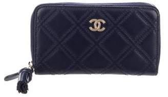 Chanel 2017 Quilted Zip-Around Wallet