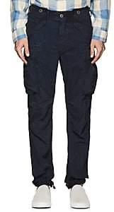 Rrl Men's Washed Cotton Cargo Pants-Blue Size 30w 34l