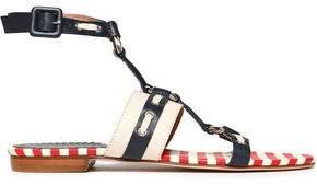 Red(V) Red(v) Embellished Two-tone Leather Sandals