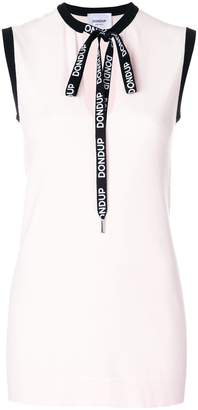 Dondup sleeveless branded laces top