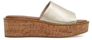 Aldo Leather Flatform Slides
