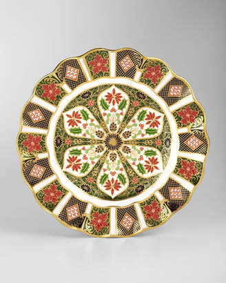 Royal Crown Derby Holiday Imari Fluted Dessert Plate