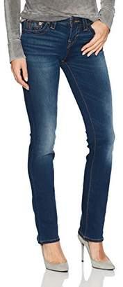 True Religion Women's Billie Mid Rise Straight Leg Jean
