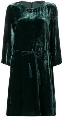 Antonelli rope belt velour dress