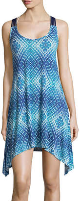 Porto Cruz Diamond Jersey Swimsuit Cover-Up Dress