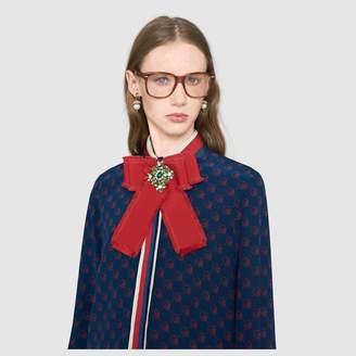 Gucci Grosgrain bow brooch