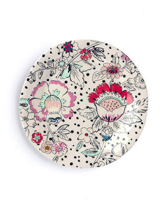 Vera Bradley Coral Floral Accent Plate