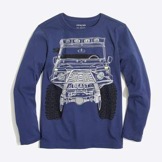 J.Crew Factory Boys' long-sleeve glow-in-the-dark monster truck graphic T-shirt