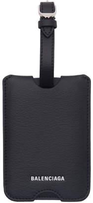 Balenciaga Black Logo Luggage Tag
