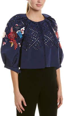 Monique Lhuillier Silk Jacket