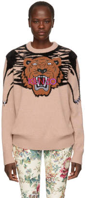 Kenzo Pink Oversize Tiger Sweater