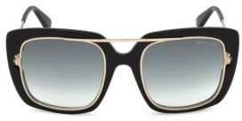 Tom Ford Marissa Black Square Sunglasses/52MM