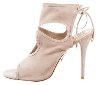 Aquazzura Suede Cut-Out Pumps