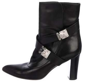Louis Vuitton Leather Pointed-Toe Ankle Boots