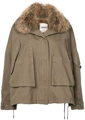 Yves Salomon Army cropped parka coat