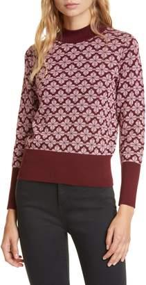 Kate Spade Floral Spade Pima Cotton Sweater