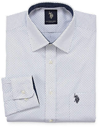 U.S. Polo Assn. USPA Long Sleeve Dots Dress Shirt - Slim