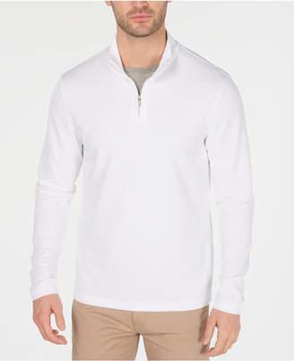 3c0e9711 Alfani Men Textured Quarter-Zip Sweater