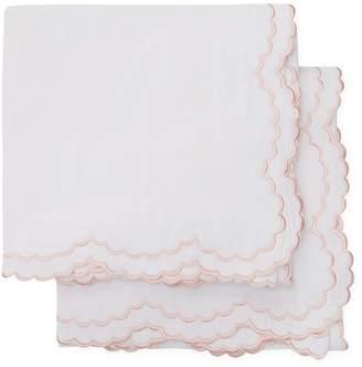 Melange Home Double Scallop Cotton Percale Euro Shams (Set of 2)