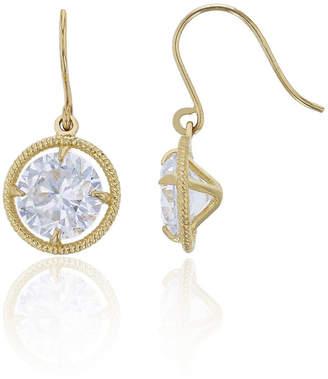 FINE JEWELRY 2 3/4 CT. T.W. White Cubic Zirconia 14K Gold Round Drop Earrings