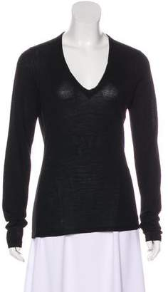 Burberry V-Neck Long Sleeve Sweater
