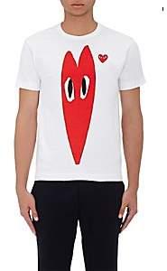 Comme des Garcons Men's Playful Hearts Cotton T-Shirt - White