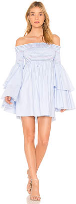 Central Park West Primrose Off the Shoulder Smocked Dress