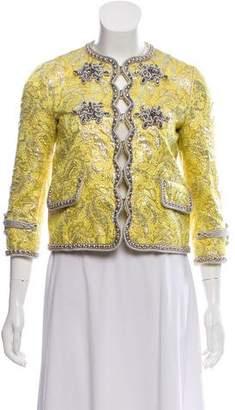 Gucci Embellished Brocade Jacket