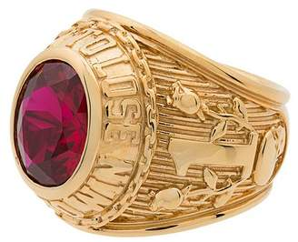 Ambush Gold Class ring with faux ruby