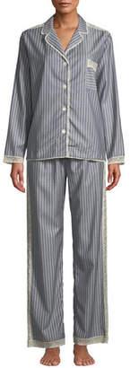 Morpho + Luna Ines Striped Wool Classic Pajama Set