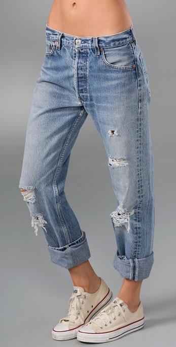 What Comes Around Goes Around Vintage Boyfriend 501 Feather Jean