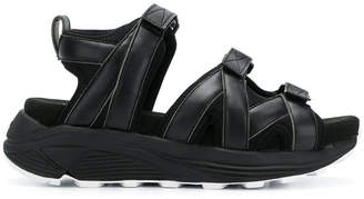 White Mountaineering padded strap sandals