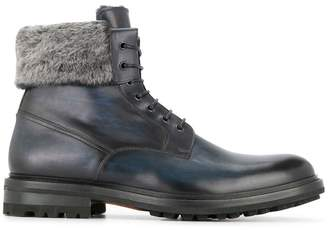 Magnanni fur ankle boots