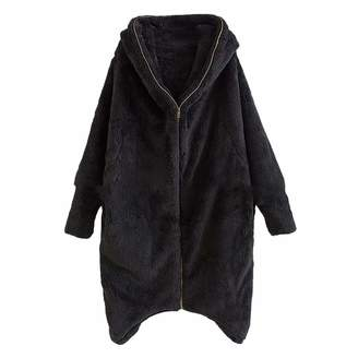 Mapsoul-Outerwear Mapsoul Double-Sided Plush Full Zipper Cardigan Fur Coat Corduroy Patchwork