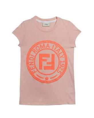Fendi Girl's Cap Sleeve Logo T-Shirt, Size 4-14