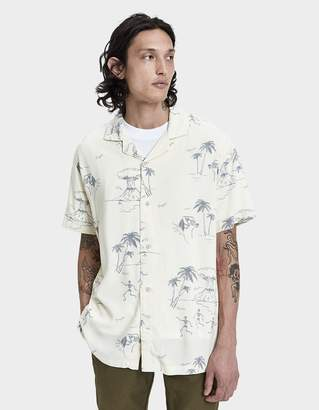 Insight Doomsday Resort Button Up Shirt in Yellow
