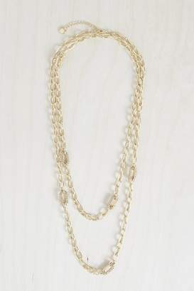 French Connection Stones And Chain Link Necklace