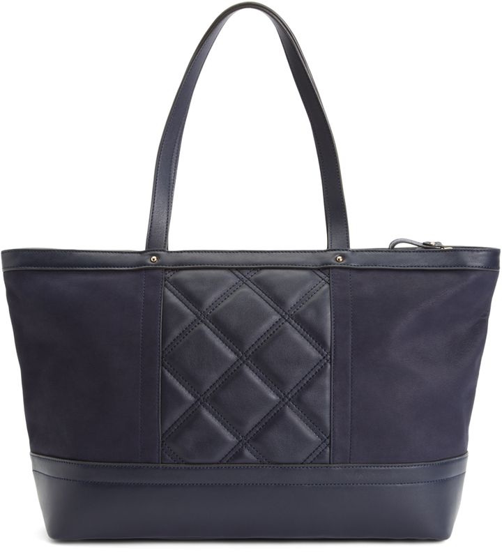 Brooks Brothers Large Quilted Tote