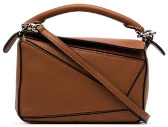 Loewe tan brown Puzzle mini leather shoulder bag