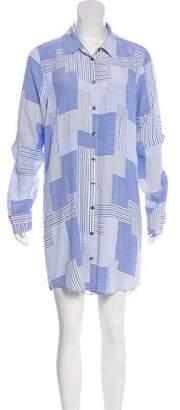 Equipment Silk Long Sleeve Dress