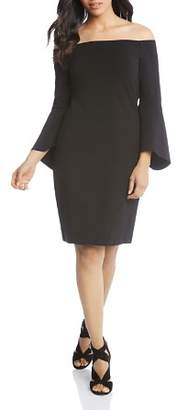 Karen Kane Off-the-Shoulder Bell-Sleeve Dress