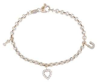 Roberto Coin 18K Diamond I Love You Charm Bracelet