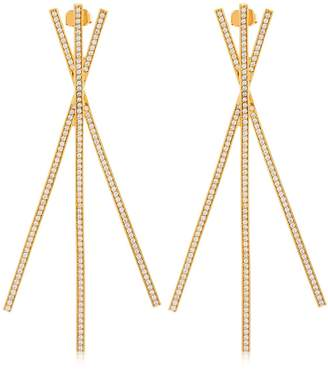 Joanna Laura Constantine Criss Cross Statement Earrings
